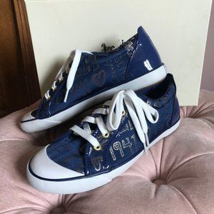 Brand new Vintage Blue and Gold Coach Sneakers
